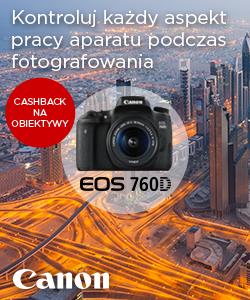 CashBack Canon: promocja na najnowsze  aparaty z wymienną optyką EOS i obiektywy STM