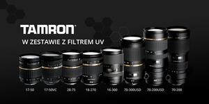 Obiektywy Tamrona wraz z filtrem UV w zestawie