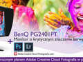 24-calowy monitor BenQ PG2401PT z rocznym planem Adobe Creative Cloud Fotografia