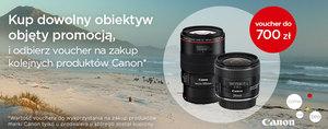 Promocja Canon: voucher na drugi produkt