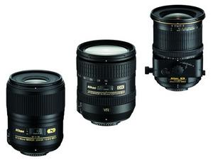 Nowe obiektywy Nikona - AF-S DX-NIKKOR 16 - 85mm, AF-S Micro NIKKOR 60mm, PC-E NIKKOR 24mm