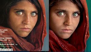 Najsłynniejszy portret afgańskiej dziewczyny też był poddany edycji