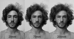 Znakomity ruchomy GIF pokazujący, jak zmiana ogniskowej dodaje parę kilogramów