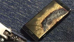 Wymieniony Samsung Galaxy Note7 zapalił się w samolocie