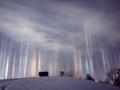 Kolorowe światła strzelające w niebo w Northern Ontario w Kanadzie