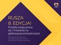 8. edycja Ogólnopolskiego Studenckiego Konkursu Fotograficznego Głębia Spojrzenia