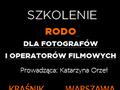 Rodo dla fotografów i operatorów filmowych - polecamy szkolenie