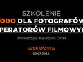 Szkolenie RODO dla fotografów i operatorów filmowych w Warszawie