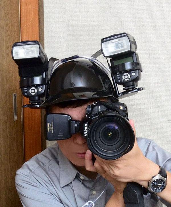 piwny hełm dla fotografa akcesoria fotograficzne