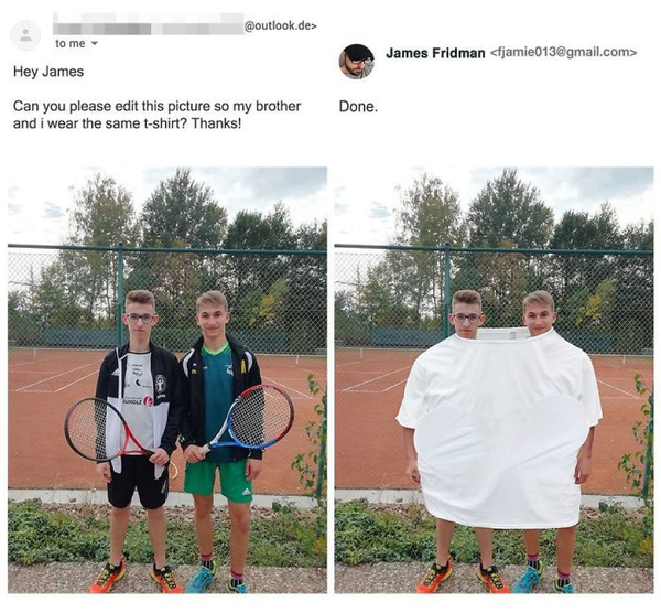 retusz James Fridman