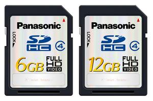 Nowe karty pamięci flash Panasonic SDHC 6 GB i 12 GB