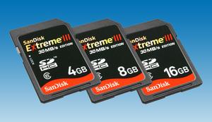 Słoneczne dyski z dedykacją dla Nikona D90. Nowe karty SDHC SanDisk Extreme III 30MB/s