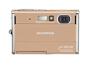 Olympus mju 1050 SW – twardziel w kolorze złotym.