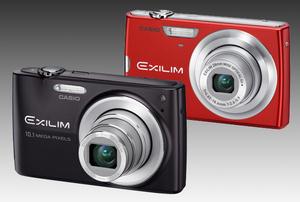 Górna półka serii Exilim: Casio EX-Z250 i EX-Z300