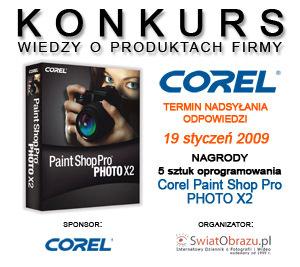 Konkurs wiedzy o produktach firmy Corel