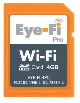 Eye-Fi Pro - nowe bezprzewodowe karty dla profesjonalistów